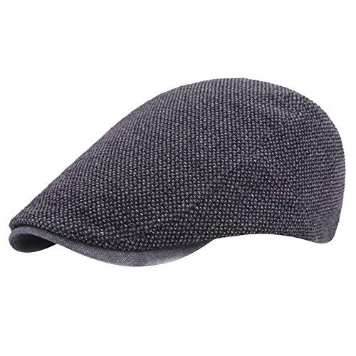 Leisial Boinas Hombre Algodón Visera Retro Hat Cap