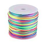 1,5 millimetri cavo di nylon DealMux artigianale fai da te in maglia Fan Flauto Decor Ciondolo Dia 78,7 Yards Multicolor