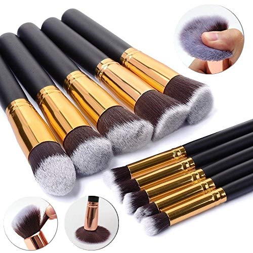 10Pcs Brush Makeup Brushes Set Powder Eyeshadow Eye-liner