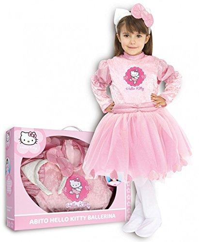 Costume carnevale bimba hello kitty ballerina-4° taglia