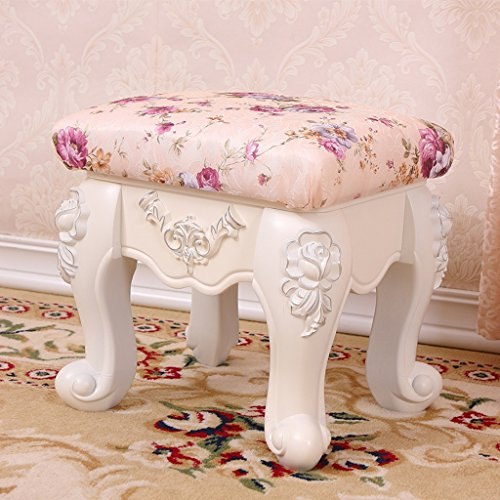 Zcxbhd Tabouret Dressage Rembourré Pansement Tabouret Table Rembourré Commode Vanité Tabouret Sable, L * W * H: 32 * 28 * 32 Cm (Couleur : 8)