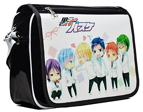 siawasey Japanische Anime Cartoon Cosplay Messenger Bag Rucksack Schultertasche Tasche (31Mustern) schwarz Kuroko no Basket (Kuroko Kissen)