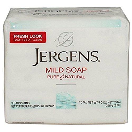 Jergens Milde Seife, Gesichts-, 3Bars, 3oz-ea (2Stück) (Soap Bar Jergens)