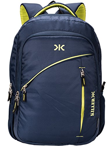 Killer Louis 38L Large Laptop Backpack with 3 Compartments Navy Blue Polyester Trendy Waterproof Travel Backpack