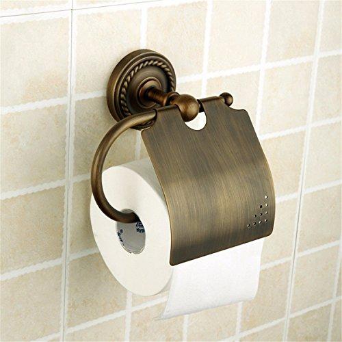 ZHAS Feine Kupfer Antik Papier Handtuchhalter Badezimmer im antiken Landhausstil WC Papier zu Papier Regal Toilettenpapier Halter Toilettenpapier Halter