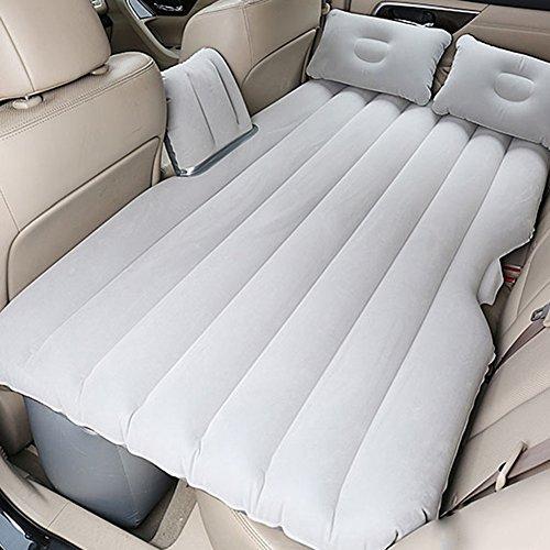Luftmatratzen Auto Camping-Reise-aufblasbare Matratze Portable Thicker-Sex-Bett Mit Elektrischer Pumpe Und Kissen, Graues 136 × 90 × 44cm