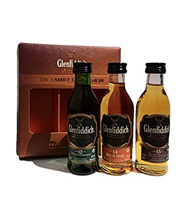 Glenfiddich Family Collection 3x5cl, 12yo 14yo and 15yo Whisky Miniatures Gift Pack from Glenfiddich