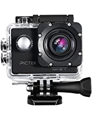 Action Camera, [Upgraded Version]Pictek Underwater Camera, Sports Camera, Waterproof WIFI 2.0 Inch HD 1080P Sports Cameras with 170 Degree Wide Angle