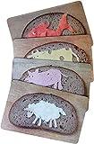 4-er Frühstücksbrettchen-Set 23,5 x 14 cm • MIX-0859 ''Motiv-brettchen-Set'' von Inkognito • Künstler: INKOGNITO