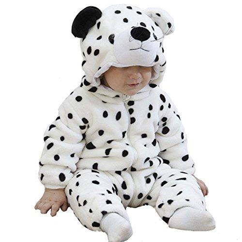 tonwhar Unisex Flanell Snow Leopard Kostüm Outfits (Leopard Snow Kostüm Halloween)