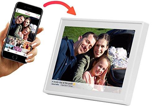 """Oferta de Denver PFF-1011WHITE Marco Digital de Fotos de 10.1"""" con WiFi Temporizador Software Fotográfico para Enviar Fotos desde la Aplicación Móvil al Marco Resolución: 800x1280"""