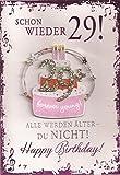 Geburtstagskarte Elegance Zum 30. Geburtstag Schon wieder 29!