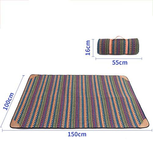 wysm Protezione impermeabile 100 * 150cm tenda da spiaggia per picnic spiaggia esterna impermeabile piatto da picnic a prato inglese ( Colore : Paragraph B ) Paragraph B