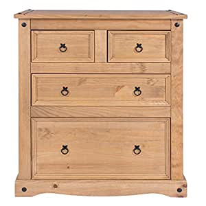 Core Products CR512 Four Drawer Chest, Antique Wax