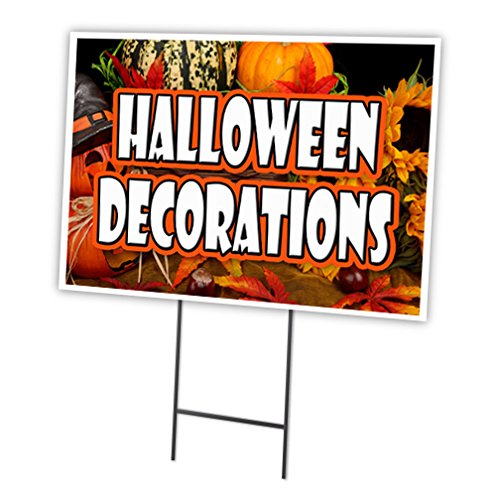 Halloween Dekorationen 45,7 x 61 cm Yard Sign & dem Spiel Outdoor Kunststoff Fenster