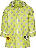 Playshoes Mädchen Regenmantel 408592 Regenmantel Punkte mit Reflektoren, Oeko-Tex Standard 100, Gr. 140, Grün (original)