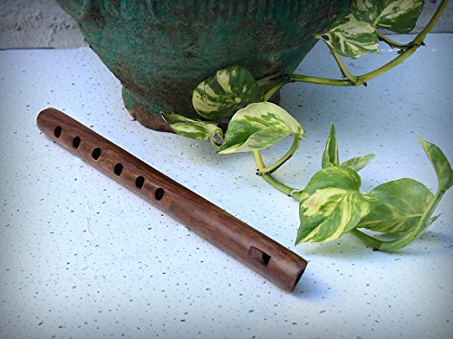 Mothers Day Gifts Hand Carved Indian Authentic Rosewood Flute with Rustic Finish