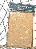 Fischernetz zur Dekoration 200x400cm BEIGE Baumwolle