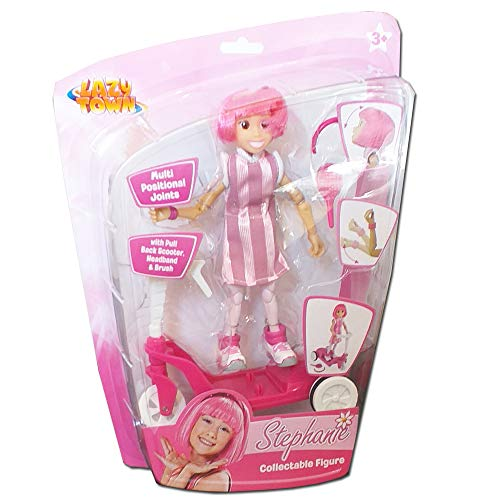 Preisvergleich Produktbild Lazy Town Stepanie Collectable Figure & Scooter With Pull Back Motor