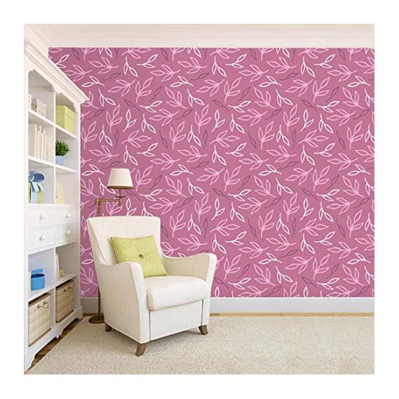 100Yellow? Leaf Printed Self Adhesive Peel & Stick Waterproof Wallpaper For Office