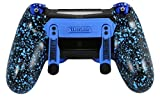 PS4 Elite Controller Verstellbare Paddles, Blau, Chrom Soft Touch Grip, GM Master MOD, Trigger Stoppt, MODDING Controller Rapid Fire, Drop Shot, Quickscope Cod Black Ops 3, Infinite Warfare, MW Das