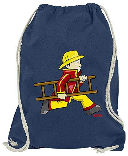 HARIZ Turnbeutel Feuerwehrmann Leiter Schnell Beruf Feuerwehr Inkl. Geschenk Karte Navy Blau One - Einfach Und Schnell Zu Machen Kostüm