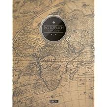 """TULPE Bullet Journal A4 """"C075 Auslandsreise"""" (140+ Seiten, Vintage Softcover, Punktkariertes Papier – Punktraster Notizbuch, Handlettering, Skizzenbuch, Zeichenbuch)"""