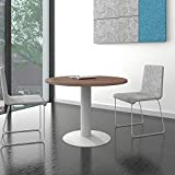 Weber Büro OPTIMA runder Besprechungstisch Ø 100 cm Nussbaum Silbernes Gestell Tisch Esstisch