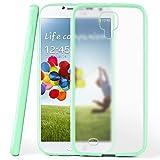 moex Samsung Galaxy S4 | Hülle Slim Transparent Mint-Grün Impact Back-Cover Dünn Schutzhülle Silikon Handy-Hülle für Samsung Galaxy S4 / S IV Case TPU Tasche Matt