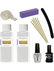 MEANAIL PARIS KIT Manucure semi permanent - Cleaner & Remover pour semi-permanent  ,Recharge pour Pose & Dépose Vernis à ongles semi-permanent