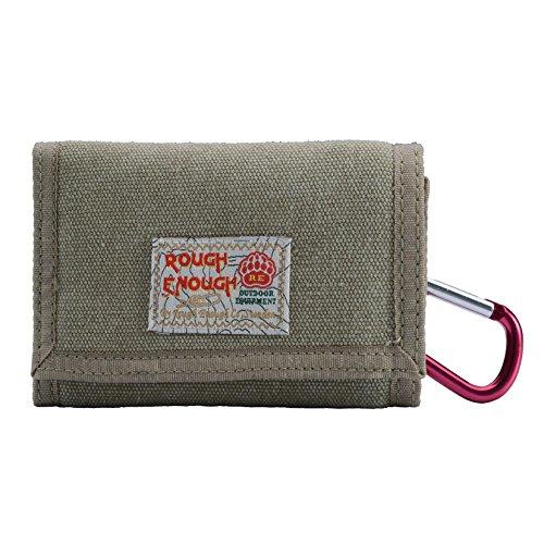 Rough Enough Klassische Mini-Brieftasche, khaki (Mini Canvas Gucci)