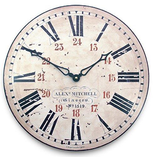 Lascelles London - Orologio da parete, numeri romani e arabi (24 ore), 36 cm