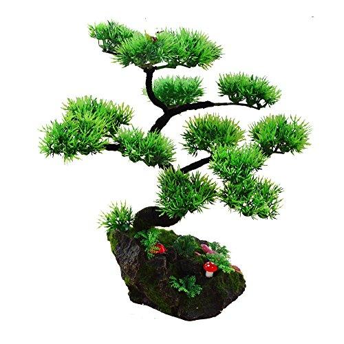 2018 Künstliche Bonsai Baum Pflanze für Büro Zuhause Dekoration, Feng Shui Deko,Japanischer Pinien,Höhe ca.13.39