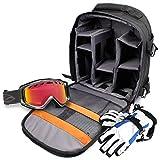 DURAGADGET Zaino Per Salvare/Organizzare Accessori Da Sci | Snowboard - Include Custodia Impermeabile - Con Scomparti Interni