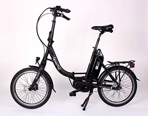 GermanXia Premium Elektro-Faltrad Mobilemaster cm 8G Nabenschaltung Shimano, max. 80 Nm Mittelmotor mit Drehmomentsensor, bis zu 145 km nach StVZO