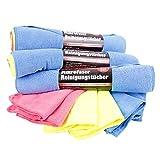Mikrofaser Reinigungstücher 24 Tücher Set 40 x 30 cm - Mikrofasertücher ideal für Auto, Haushalt und Hobby
