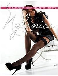b832db13e Amazon.co.uk  Nylonica - Hold-up Stockings   Socks   Tights  Clothing