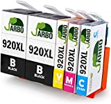 JARBO Compatible HP 920 XL Ink Cartridges High Capacity Compatible with HP Officejet 6000 6500 7000 7500 Printer (2 Black,1 Cyan,1 Magenta,1 Yellow)