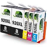 JARBO Reemplazar por HP 920 XL Cartuchos de tinta (2 Negro, 1 Cian, 1 Magenta, 1 Amarillo) gran capacidad para HP Officejet 6000 6500 7000 7500 E709 Impresora