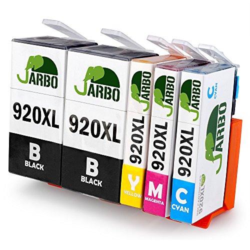JARBO Compatibile HP 920 XL Cartucce d'inchiostro ad alto rendimento Compatibile con HP Officejet 6000 6500 7000 7500 E709 Stampante (2 Nero,1 Ciano,1 Magenta,1 Giallo)