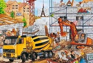 Schmidt Spiele  - Obra de construcción, 100 Rompecabezas Rompecabezas Pedazo Maleta Azul