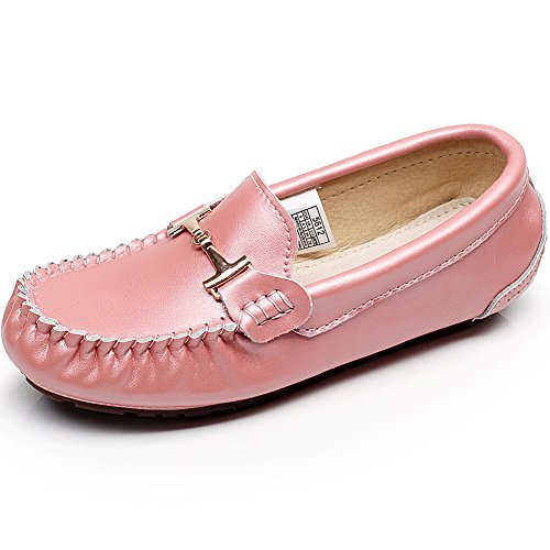 Shenn Femme Conduire Une Voiture Glisser Sur Confort Cuir Mocassins Chaussures Rose