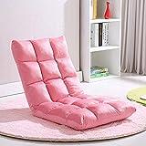 Bodenstuhl Faltbare Verstellbare Bodenliege Sleeper Futon Matratze Stuhl Tatami Klappsofa Rückenlehne Fenster Stuhl Lazy Chair Bodenstuhl,Pink-50 * 100 * 12cm