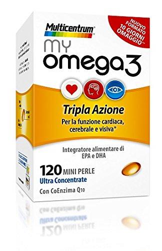 Multicentrum My Omega 3 Tripla Azione Integratore Alimentare 120 Mini Perle