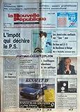 Telecharger Livres NOUVELLE REPUBLIQUE LA No 13359 du 08 09 1988 FORTUNE L IMPOT QUI DECHIRE LE PS BEREGOVOY LE CADAVRE CALCINE DE LA PETIT DELPHINE AUTOPSIE A PARIS CHOTARD ET LA SECURITE SOCIALE ESPACE LE RETOUR MOUVEMENTE DE SOYOUZ TM 5 L ETE DES BOURREAUX PAR GUENERON DOUFFIAGUES ABANDONNE LA VIE POLITIQUE LES SPORTS VOILE FOOT (PDF,EPUB,MOBI) gratuits en Francaise