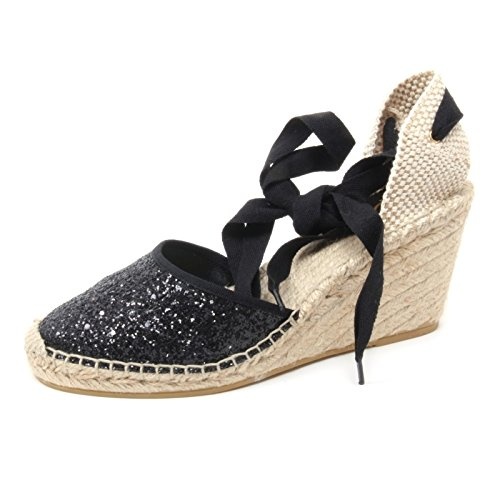 B3835 sandalo donna ASH WANDA BIS scarpa zeppa glitter nero shoe woman [40]