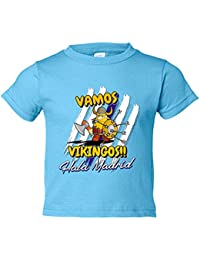 Camiseta niño vamos Vikingos Madrid fútbol merengues