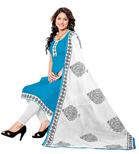 Blissta Blue Cotton Salwar suit Dress Material(Diwali special 2017, ,great indian festival sale,festival offer,best deals of the day,traditional for women,sales offers)  available at amazon for Rs.899