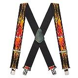 Suspender Store Mens Flames Suspenders 54 IN Multi