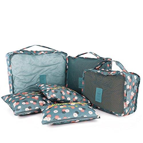 HOMPO 6er Koffer Organizer Reise Organizer Kulturbeutel Set Handtaschenordner Kulturtaschen Kosmetik Handtasche